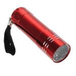 9 LED steckt Aluminium Taschenlampe Camping Licht Lampe AAA Taschenlampe