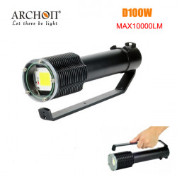 ARCHON D100W 100W LED 10000LM professionelle Tauch LED Taschenlampe