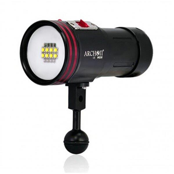 ARCHON D36VR 5200lm Vattens Fotografering Lampor Dykning Ficklampa Ficklampor