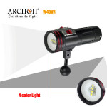 ARCHON W40VR 100M Video Photograpy Diving 4 Färg LED Ficklampa Ficklampor