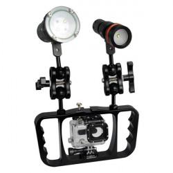 ARCHON Z08 Gopro Diving Flashlight Photography Both Slot Holder