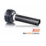 AceBeam X60 5 * CREE XM L2 5000lm Infinite Helligkeit LED Taschenlampe Taschenlampe