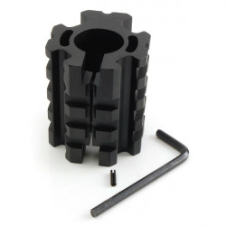 Aluminum Alloy AR Picatinny Quad Rail Gas Block Mount Barrel