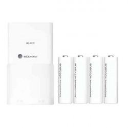BQ-CC11 Snabbladdare med 4PCS Eneloop AA NiMH-batterier