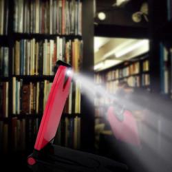 BS 015 Mini LED Buch Licht Leselampe Weiß / Schwarz / Rot