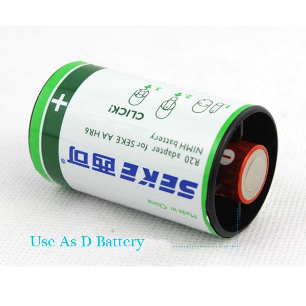 Batteri Adapter Omvandlare Konverter Adapter Case 1xAA till D Mått Ficklampor