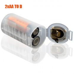 Batteri Adapter Omvandlare Konverter Adapter Case 2xAA till D Mått