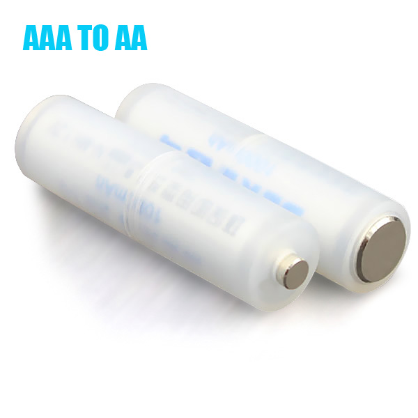 Batteri Adapter Omvandlare Konverter Adapter Case AAA till AA Storlek Ficklampor