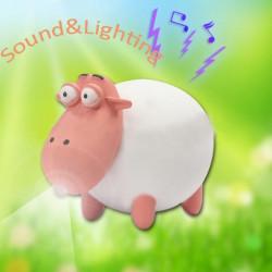 Bysun Sound Cute little Sheep LED Keychain Pendant 3*AG10