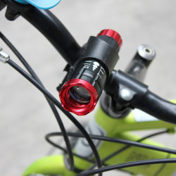 CREE Q5 240LM 3 modes Zoomable LED Flashlight With Clip For Bicycle