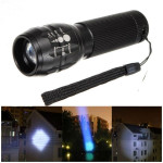 CREE Q5 500lm 3Modes Zoombar Mini LED Ficklampa AAA Ficklampor