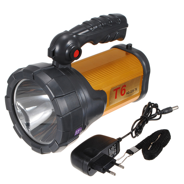 CREE T6 Digital Projektor Rechargerable Miner Lampa Ficklampa Ficklampor