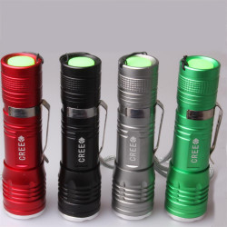 CREE XM-L T6 1000LM 3 Mode Zoombar LED Ficklampa 18650