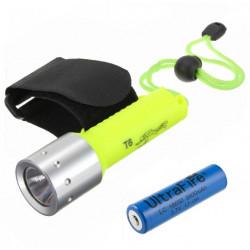 CREE XM-L T6 1600LM 3 Modes Waterproof LED Flashlight + 18650