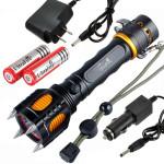 CREE XM L T6 2000lm Angriff Köpfe und akustischer Alarm LED Taschenlampe Suit Taschenlampe