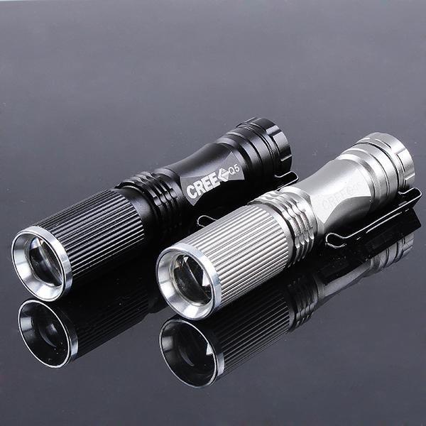 CREE XPE-Q5 600 Lumen 7W Zoomable LED Flashlight 1xAA/14500 Flashlight