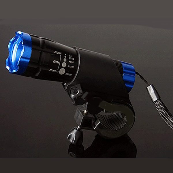CREE XPE-Q5 600 Lumen LED Zoomable Zoom Flashlight Blue Flashlight