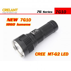CRELANT 7G10 CREE MT-G2 5-Mode 1860 Lumens LED Flashlight 4*18650