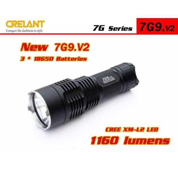 CRELANT 7G9.V2 XM-L2 3-Mode 1160 Lumens LED Flashlight 3*18650 Flashlight