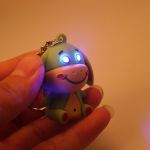 Cartoon Donkey Design LED Keychain Cute Kid Toy Flashlight