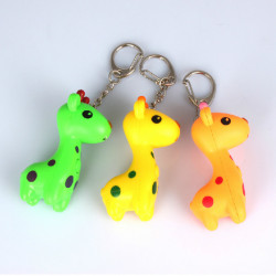 Cartoon Giraffe Luminous Sound LED Keychain