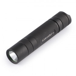 Convoy S2 + CREE 7135 * 4 5 Modes LED Lommelygte 1x18650 Sort