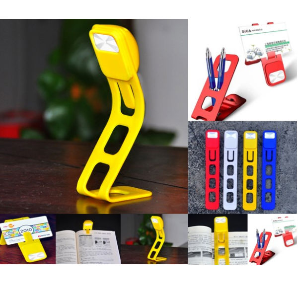 Creative Multifunction Bookmark Foldable LED Lamp Light Flashlight
