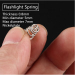 DIY Flashlight Spring Driver Spring Thickness 0.8mm Flashlight
