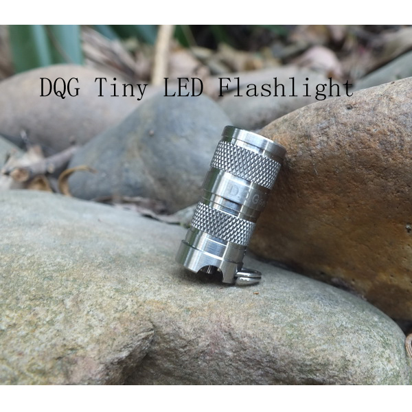 DQG SPY CREE XP-G2 R5 1A Cool White Tiny Titanium LED Flashlight Flashlight