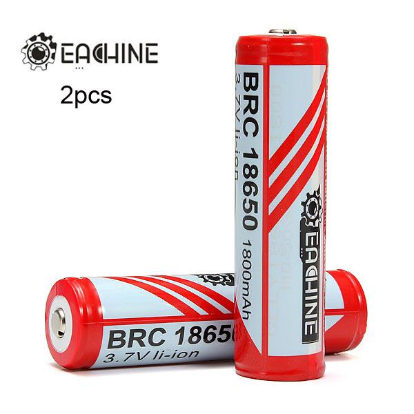 EACHINE 1800mAh 18650 Protected Rechargeable Li-ion Battery 2pcs Flashlight
