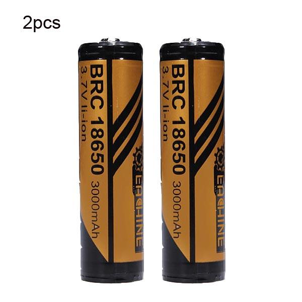 EACHINE 3000mAh 18650 Skyddade Uppladdningsbart Li-ion Batteri 2st Ficklampor