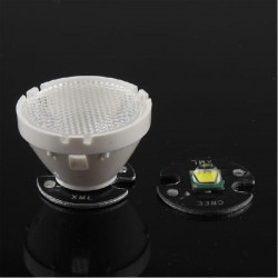 Flashlight Glass Lens For CREE XML T5/T6/U2 LED With Holder 21.2mm