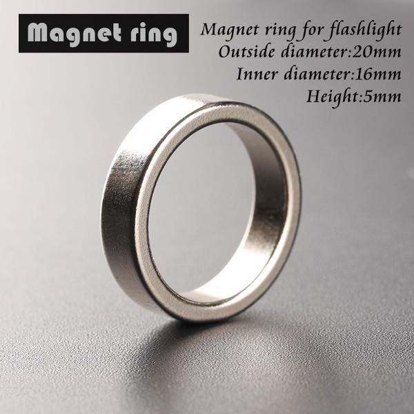 Ficklampa Tail Magnet Magnetiska Ring 20 * 16 * 5mm Ring Ficklampor