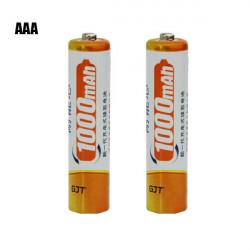 GJT 1000mAh 1.2v Rechargeable Ni-MH AAA Battery 1PCS
