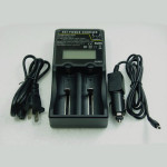 HXY-18650-2LC Batteri Universal Smart Laddare med LCD-display Ficklampor
