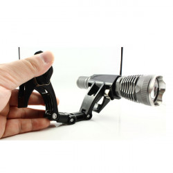 Hög Kvalitet Dubbla Heads Clip för Flashlight
