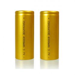 SEK 26650 E Protected 4000mAh 3.7V Li-Lon Uppladdningsbart Batteri