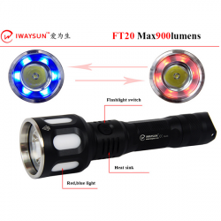 IWAYSUN FT20 CREE XM-L2 900lm 6modes LED Flashlight 18650