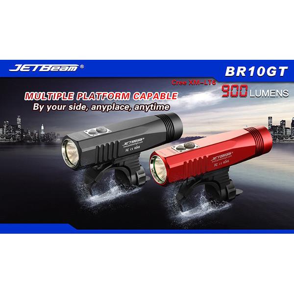 JETBEAM BR10GT Cree XM-L T6 900 LM USB Uppladdningsbara LED Cykel Ljus Ficklampor