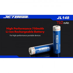 JETBeam JL148 14500 750mAh 3.7V Rechargeable Li-ion Battery