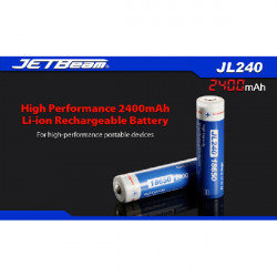 JETBeam JL240 18650 2400mAh 3.7V Li-ion Battery With Protected
