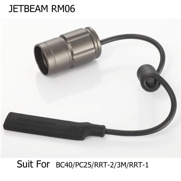 JETBeam RM06 Remote Tryckreglering Switch för 3M / RRT2 / M1X Etc. Ficklampor