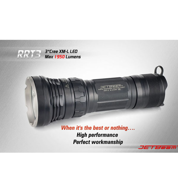 JETBeam RRT-3 XM-L LED 1950 Lumen Super Bright LED Flashlight Flashlight