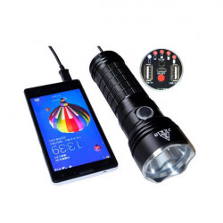 JKK18 Cree XM-L2 LED Flashlight With Mobile Power Bank Charging
