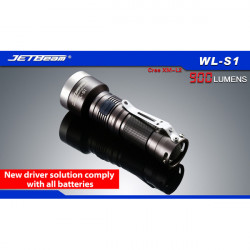 JETBeam WL S1 Cree XM L2 900lm 7 Mode LED Taschenlampe für alle Batterien