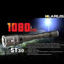 KLARUS ST30 CREE XM-L2 1080lm 7 Modes Tactical LED Flashlight
