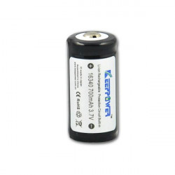 KeepPower 16340 CR123A 700mAh Protected Rechargeable Li-ion Battery