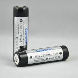 KeepPower 18650 2200mAh Skyddad Uppladdningsbart Li-Ion Batteri
