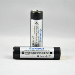 KeepPower 18650 2600mAh 3.7V Skyddad Uppladdningsbart Li-Ion Batteri