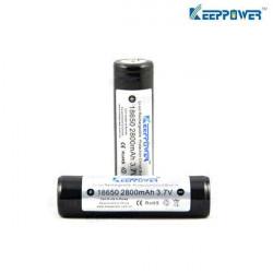 KeepPower 18650 2800mAh 3.7V Skyddad Uppladdningsbart Li-Ion Batteri